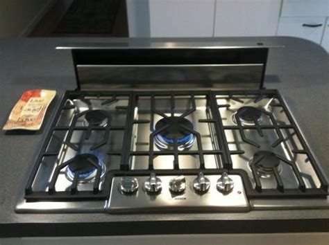 kitchen stove top exhaust fans gas stove top with pop up vent google search mcm