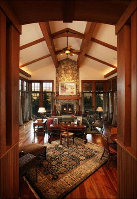 mountain arts  crafts living room traditional