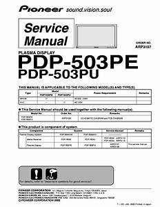 Pioneer Pdp503pe Plasma Tv Sm Service Manual Download