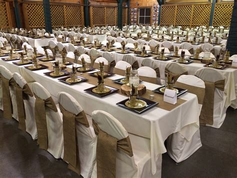 burlap table runners and chair sashes ivory tablecloths and chair covers chair covers are 1