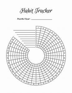 2 bullet journal printable habit trackers circle habit