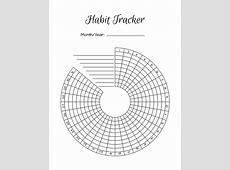 2 Bullet Journal Printable Habit Trackers, Circle Habit