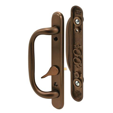 bronze door handles prime line sliding door handle set bronze c 1285