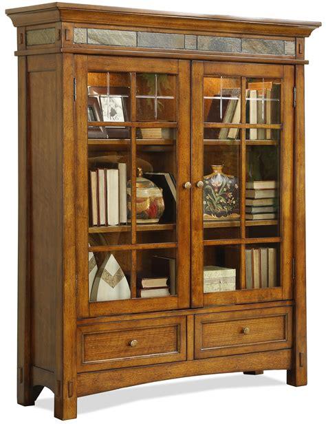wood bookcase  doors solid wood bookshelf