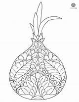 Onion Coloring Mandala Onions sketch template