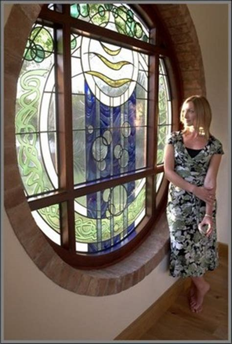 contemporary stained glass bespoke modern original