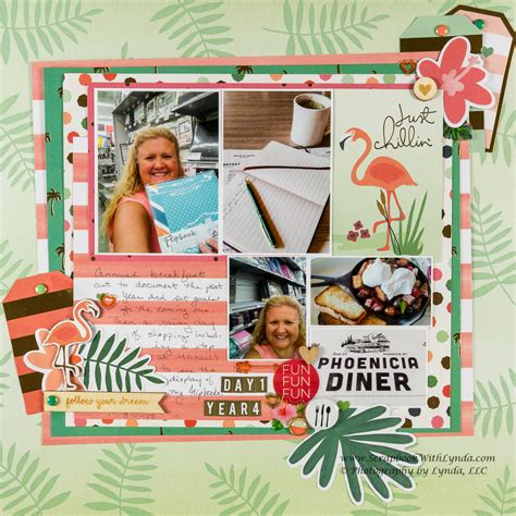 scrapbook layout inspiration  pocket card scrapbook