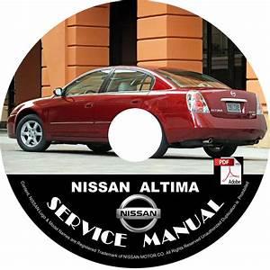 Nissan 2005 Altima Service Repair Shop Manual On Cd 05