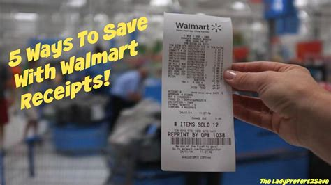 5 ways to save with walmart receipts