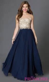 outlet designer dresses floor length sleeveless prom dress promgirl