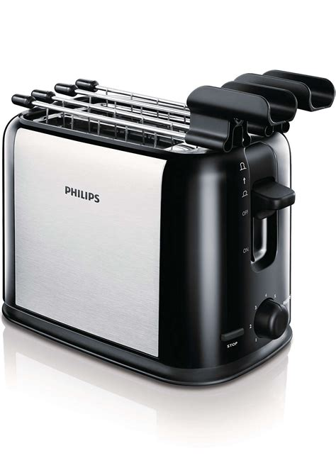 tostapane acciaio daily collection toaster hd2589 20 philips