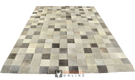 kuhfell teppich grau kuhfell teppich mix grau patchwork 200 x 140 cm kuhfelle