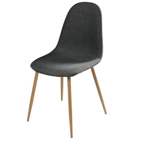 chaise en tissu anthracite clyde maisons du monde