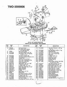 18 Hp  42 U0026quot  Lawn Tractor Diagram  U0026 Parts List For Model