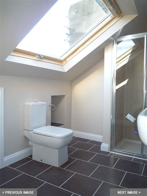 loft bathroom ideas loft en suite open feeling with the velux window