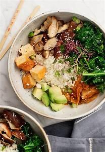 cauliflower rice kimchi bowls and lemons cravings