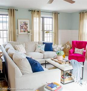 Blue pink living room decorating ideas four for Blue pink living room ideas