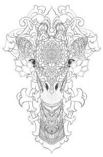 Adult Mandala Coloring Pages Giraffe