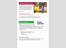 Health Insurance for Kids Information – Cabell County