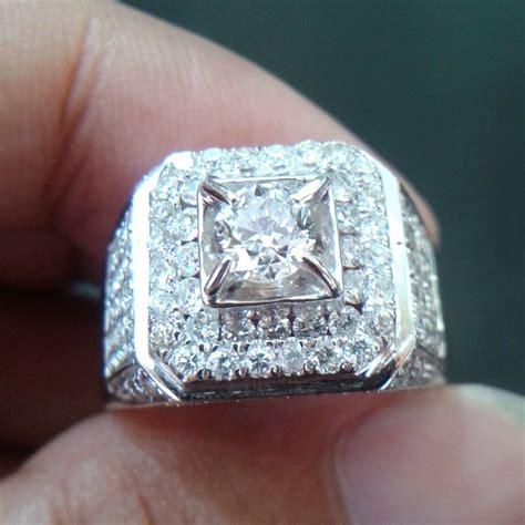 jual cincin pria mata 0 55 carat berlian eropa 0243 ring emas putih cincin dan batu batu permata