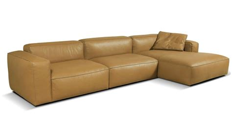Large Chaise Sofa by Lanza Large 3 Seater Leather Chaise Sofa Vavicci