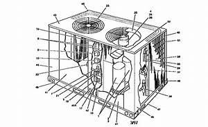 York Model H2ce120a25c Air Heat Pump Outside