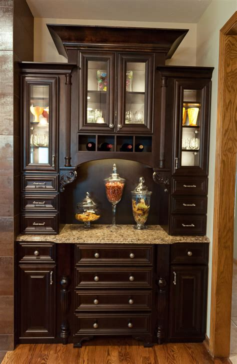 Kitchen Cabinets Lincoln Ne by Hutch With Maple Cabinets Java Stain By Reese