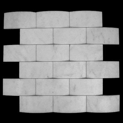 2x4 Marble Brick Mosaic Tiles   Polish Honed Tumbled