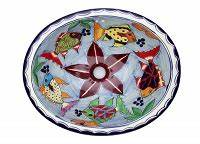 Bemalte Keramik Waschbecken : keramik waschbecken delmar ~ Markanthonyermac.com Haus und Dekorationen