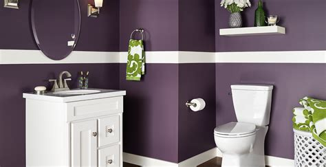 purple bathroom ideas  inspiration behr