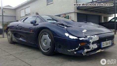 jaguar xj wrecked belgium photo