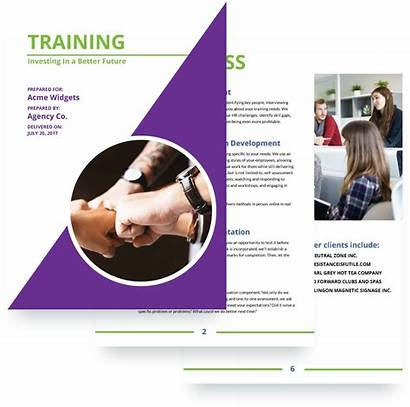 Proposal Training Template Software Services Templates Proposals