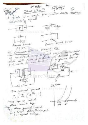 Analog Electronic Circuits Aec Notes Pdf Free Download