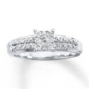 1 ct engagement rings engagement ring 1 4 ct tw cut 10k white gold