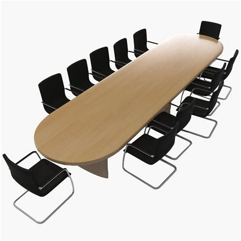 3ds max conference table chairs