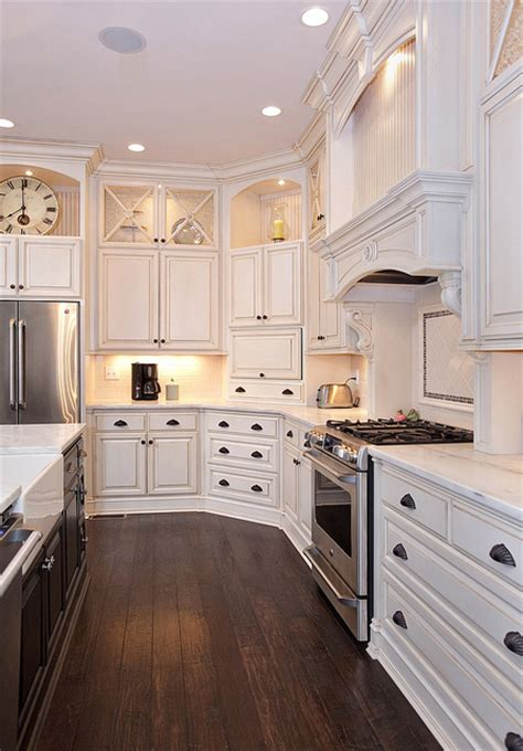 love  white cabinets  alcoves great contrast
