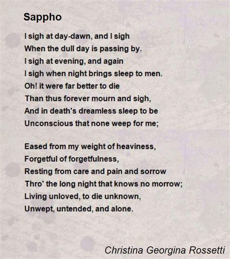 sappho poem  christina georgina rossetti poem hunter