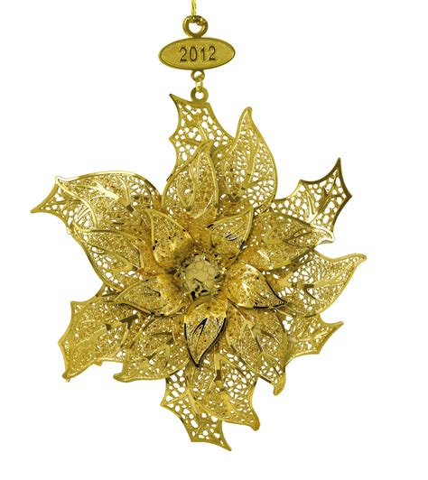 2012 gold christmas ornament collection the danbury mint