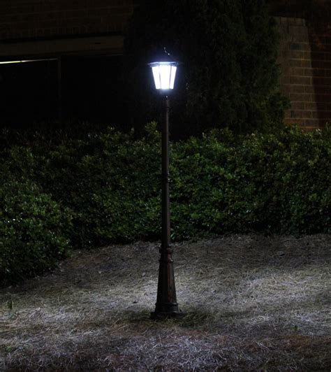 outdoor solar l post lights amazon com gama sonic windsor solar outdoor led light