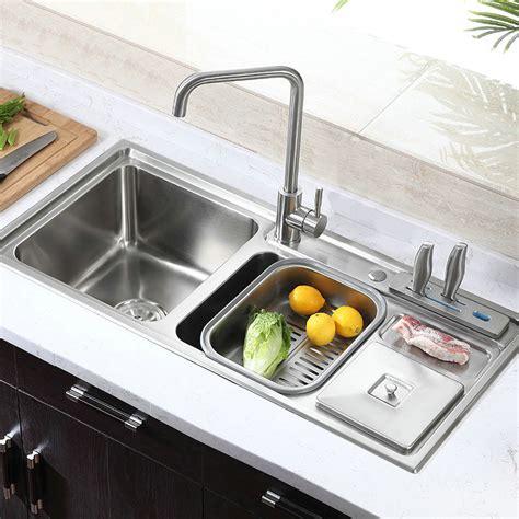modern kitchen sink simple  stainless steel sink