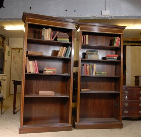 Bookcase Shelves by Pair Regency Open Front Bookcases Mahogany Bookcase Shelf