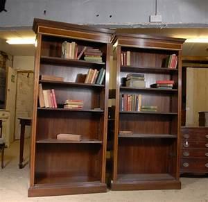 Pair, Regency, Open, Front, Bookcases, Mahogany, Bookcase, Shelf