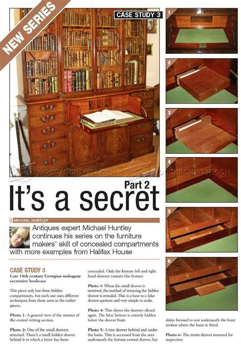 furniture secret compartments woodarchivist