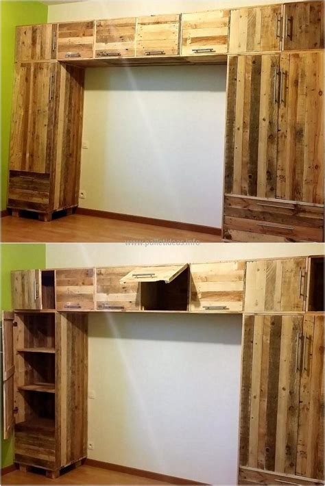 diy ideas  repurposed pallet wood pallet closet diy