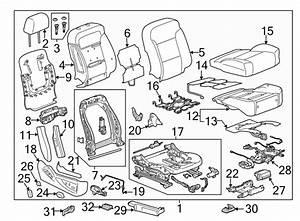 2015 Chevrolet Silverado 1500 Seat Frame Trim Panel  Front
