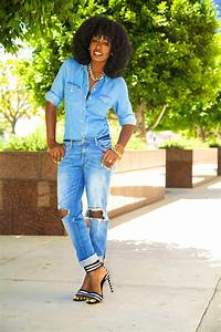 Style Pantry   Denim Shirt + Ripped Jeans