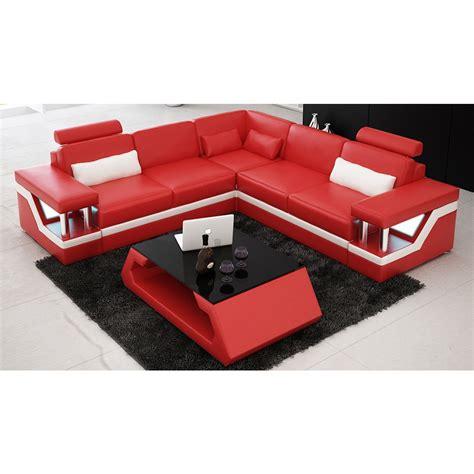 canapé en l canapé d 39 angle design en cuir véritable tosca l lit