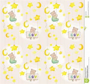 Baby bear seamless pattern stock vector image