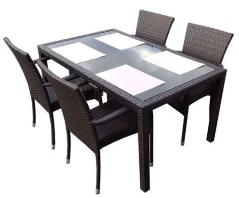 table et chaise resine tressee pas cher salon de jardin en résine tressée 2 modèles pour 2