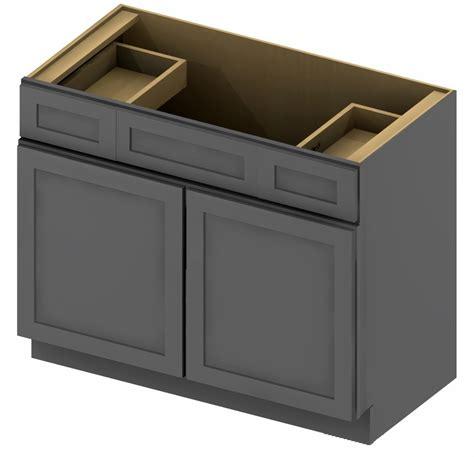 48 inch kitchen cabinets vsd48 vanity sink drawer base cabinet 48 inch shaker gray 3916